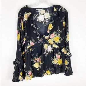 New American Eagle Floral Blouse